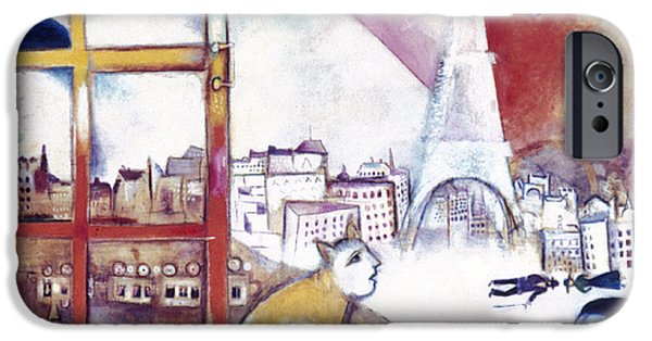 Aodcc iPhone Cases - Chagall: Paris, 1913 iPhone Case by Granger