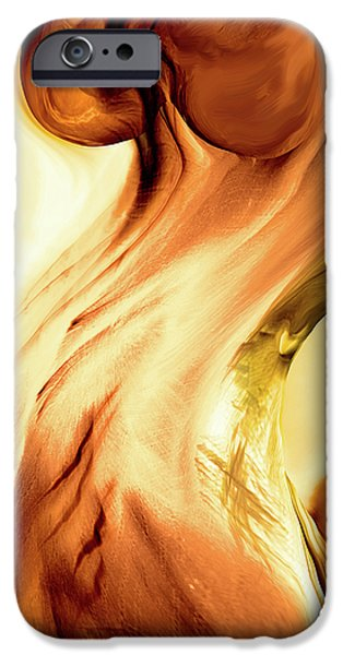 Energy Art Movement iPhone Cases - Curves iPhone Case by Linda Sannuti