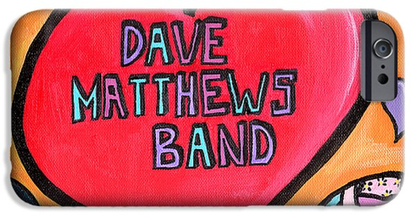 Dave Drawings iPhone Cases - Dave Matthews Band Tribute iPhone Case by Jera Sky