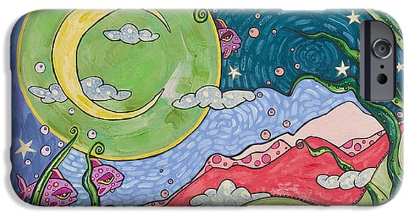 Star Nursery Paintings iPhone Cases - Daydreaming iPhone Case by Tanielle Childers