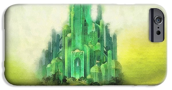 Shiny iPhone Cases - Emerald City iPhone Case by Mo T