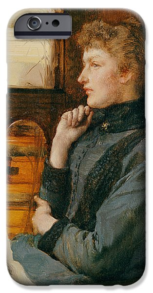Daydream iPhone Cases - Far Away Thoughts iPhone Case by Sir Lawrence Alma-Tadema