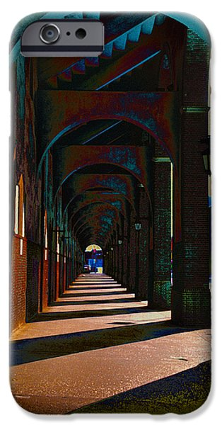 Franklin iPhone Cases - Franklin Field Concourse Arch iPhone Case by Bill Cannon