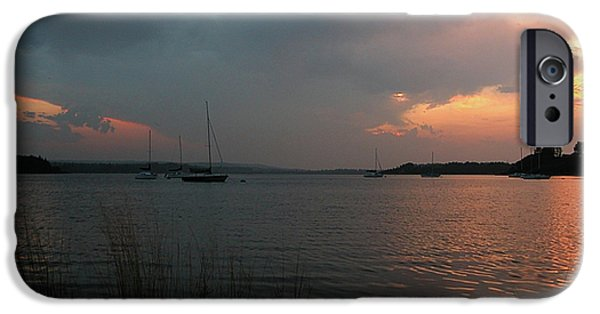 - Occupy Beijing iPhone Cases - Glenmore reservoir - Sunset 3 iPhone Case by Stuart Turnbull