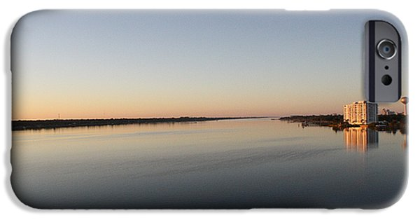 River View iPhone Cases - Halifax River Sunset iPhone Case by Mandy Shupp