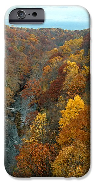 Fall Scenes iPhone Cases - Highbridge highs iPhone Case by Trish Hale