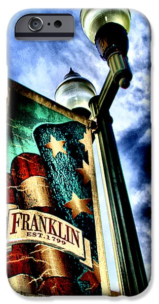 Downtown Franklin iPhone Cases - Historic Downtown Franklin iPhone Case by Ione Starr