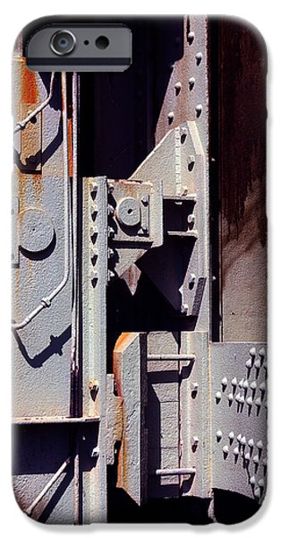Mechanics Photographs iPhone Cases - Industrial background iPhone Case by Carlos Caetano