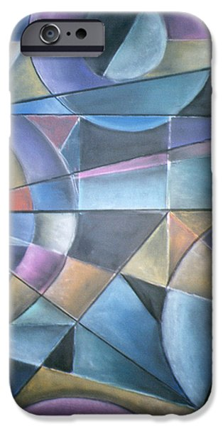 Abstractions Pastels iPhone Cases - Light Patterns iPhone Case by Caroline Peacock