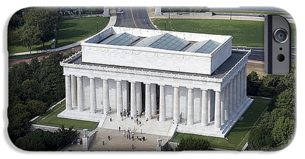 Tidal Photographs iPhone Cases - Lincoln Memorial, 2006 iPhone Case by Granger