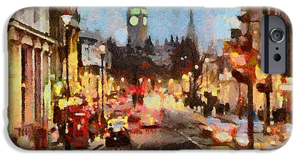 Caruso iPhone Cases - London Scene iPhone Case by Anthony Caruso