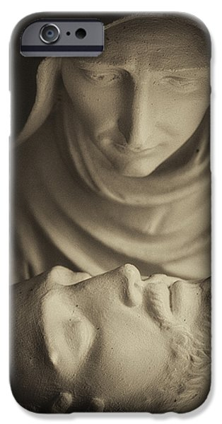 Nombre iPhone Cases - Mary and her Son iPhone Case by Dawna  Moore Photography