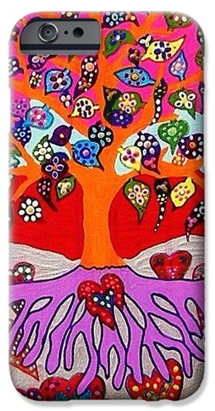 Invitations Paintings iPhone Cases - My Heart Flowers For You iPhone Case by Jennifer Fayth