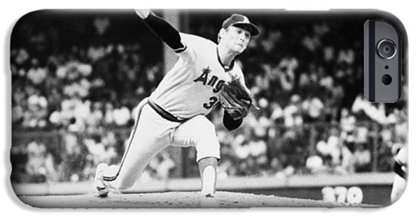 Mounds iPhone Cases - Nolan Ryan (1947- ) iPhone Case by Granger