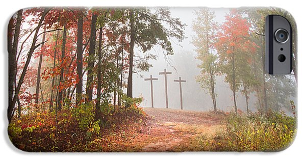 Barn Poster Photographs iPhone Cases - One Way iPhone Case by Debra and Dave Vanderlaan