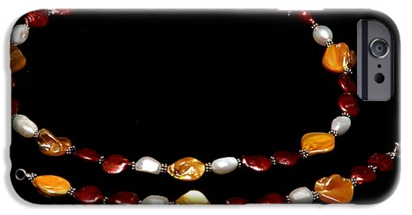 Sterling Silver Bracelet Jewelry iPhone Cases - Passion Set iPhone Case by Yael VanGruber