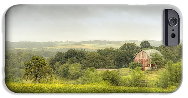 Farming Barns iPhone Cases - Pastoral Barn iPhone Case by Scott Norris