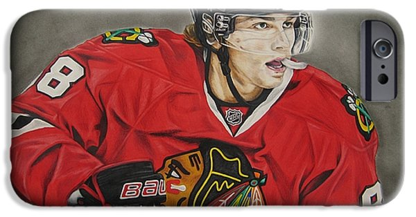Straps iPhone Cases - Patrick Kane iPhone Case by Brian Schuster