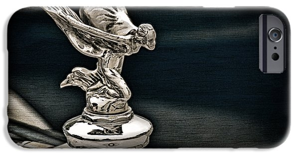 Ornament iPhone Cases - Rolls Royce Hood Ornament iPhone Case by Douglas Pittman