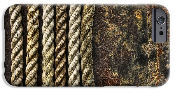 Rust iPhone Cases - Ropes iPhone Case by Evelina Kremsdorf