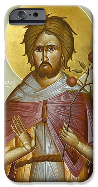 St Euphrosynos The Cook iPhone Cases - St Euphrosynos the Cook iPhone Case by Julia Bridget Hayes