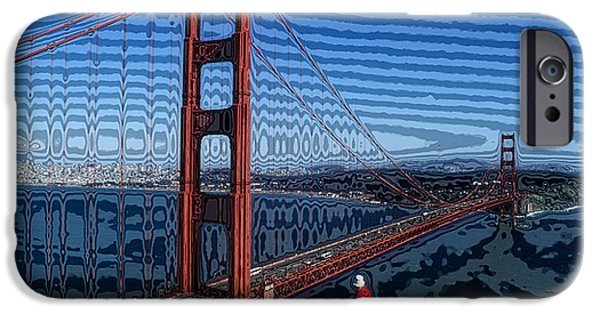 Best Sellers -  - Sausalito iPhone Cases - That Crazy Bridge iPhone Case by Carl Purcell
