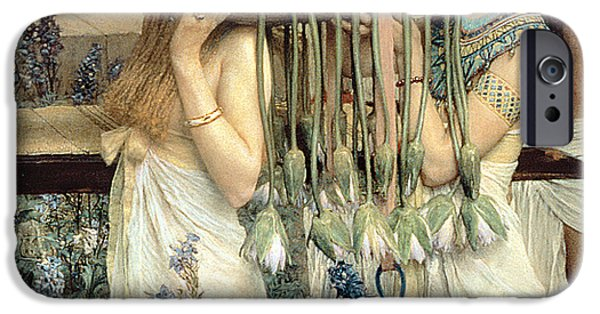 Old Testament iPhone Cases - The Finding of Moses by Pharaohs Daughter iPhone Case by Sir Lawrence Alma-Tadema