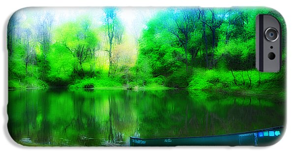 Nature Center Pond iPhone Cases - The Old Fishin Hole iPhone Case by Bill Cannon