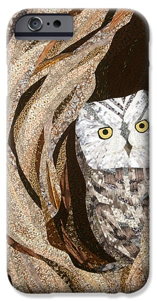 Home Tapestries - Textiles iPhone Cases - The Owl at Home iPhone Case by Linda Beach