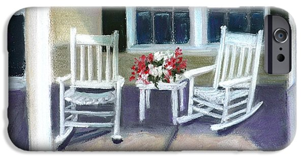 White House Pastels iPhone Cases - The Porch iPhone Case by Kathleen Hartman