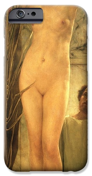 Figures iPhone Cases - The Sculptors Model iPhone Case by Sir Lawrence Alma-Tadema