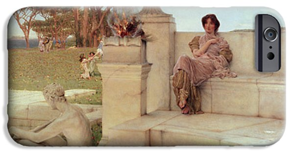 Garden iPhone Cases - The Voice of Spring iPhone Case by Sir Lawrence Alma-Tadema