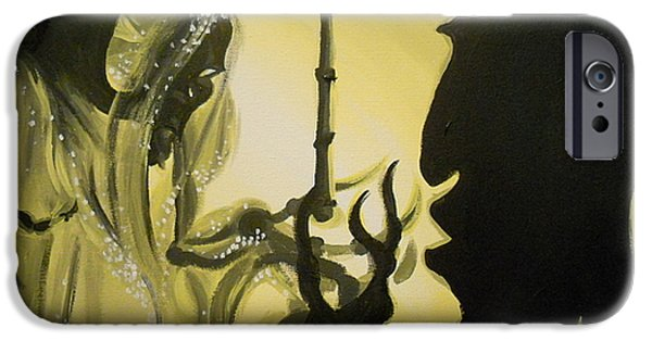 Destiny Paintings iPhone Cases - The Wand of Destiny iPhone Case by Lisa Leeman