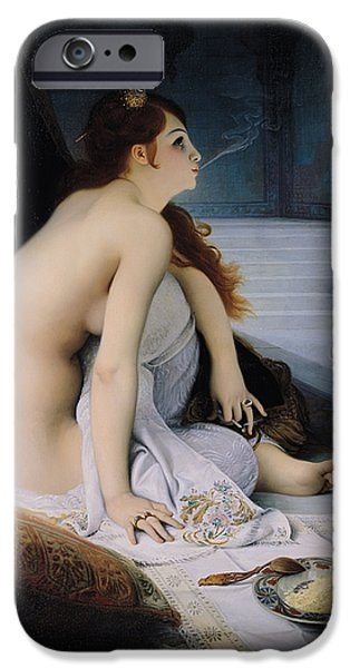 Cushion iPhone Cases - The White Slave iPhone Case by Jean Jules Antoine Lecomte du Nouy