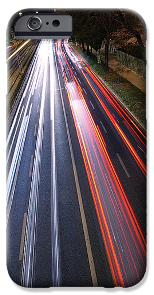 Asphalt iPhone Cases - Traffic Lights iPhone Case by Carlos Caetano