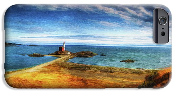 Virtual Digital Art iPhone Cases - Upon a Rock iPhone Case by Dale Jackson