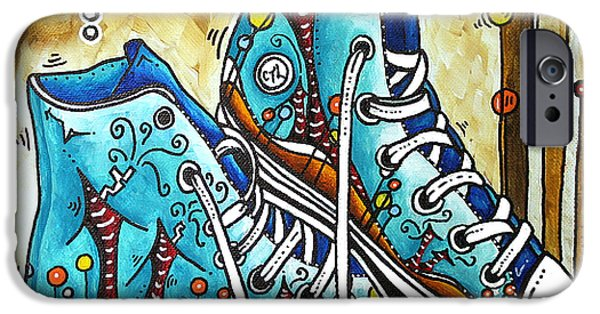 Love Laces iPhone Cases - Whimsical Shoes by MADART iPhone Case by Megan Duncanson