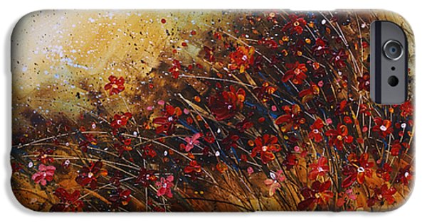 Pallet Knife Paintings iPhone Cases - Wild iPhone Case by Michael Lang