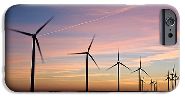 Power iPhone Cases - Wind Power II iPhone Case by Mike Hendren