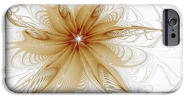 Abstract Digital Art iPhone Cases - Wispy iPhone Case by Amanda Moore