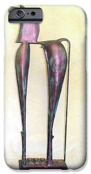 Culture Sculptures iPhone Cases - Young Trumpeting Horse iPhone Case by Al Goldfarb