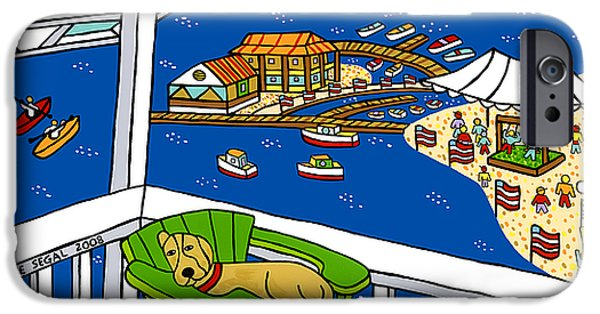 July 4th Snoozer - Cedar Key IPhone Case by Mike Segal