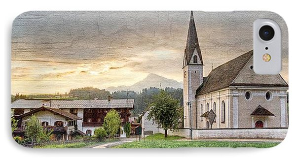 Country Church IPhone Case by Debra and Dave Vanderlaan