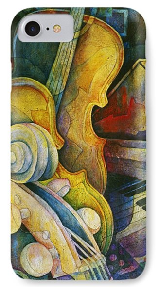 Jazzy Cello IPhone Case by Susanne Clark