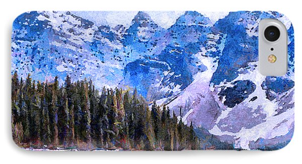 Canadian Rocky Mountain Scene IPhone Case by Anthony Caruso