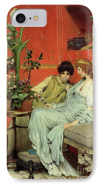 Confidences IPhone Case by Sir Lawrence Alma-Tadema