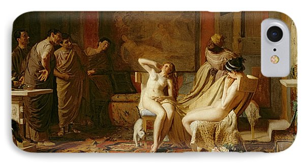 Female Slaves Presented To Octavian IPhone Case by Remy Cogghe