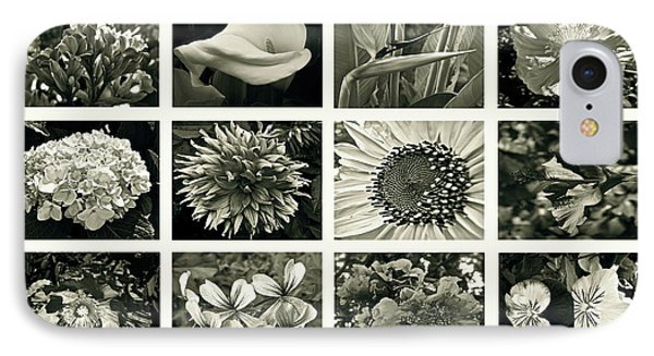 Flower Favorites Bw Phone Case by Gwyn Newcombe