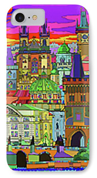 Prague Panorama Old Town IPhone Case by Yuriy  Shevchuk