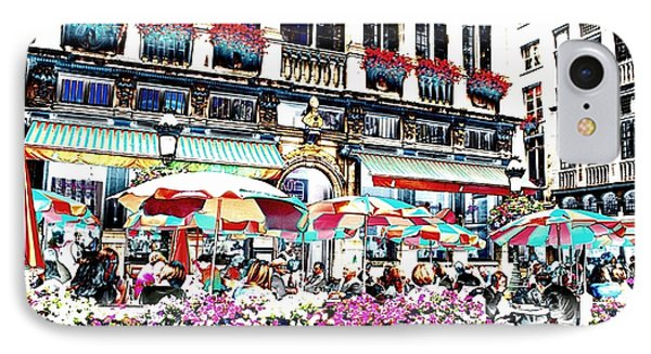 Sunny Day On The Grand Place Phone Case by Carol Groenen
